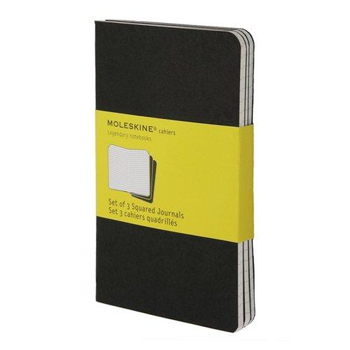 Блокнот Set Оf 3 Squared Cahier Journals Pocket, 32 листа, в клетку, черный блокнот brook books 32 листа в клетку цвет белый вв15