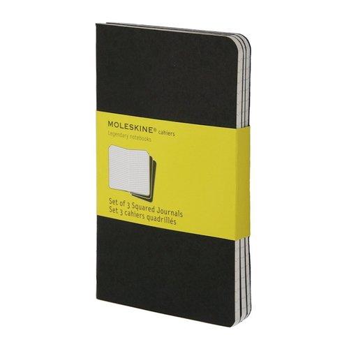 """Блокнот в клетку """"Set Оf 3 Squared Cahier Journals"""" черный Large"""