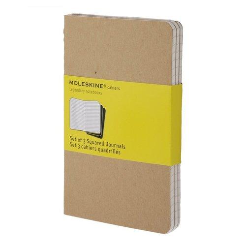 """Блокнот """"Cahier Journals Kraft"""" Large, 40 листов, в клетку, 13 х 21 см, 3 шт."""