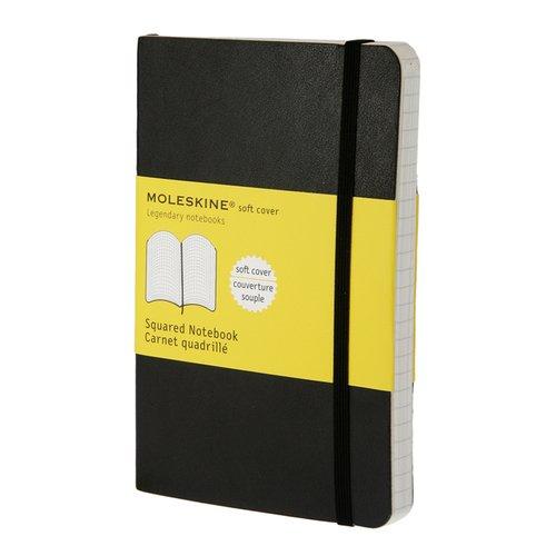Блокнот Classic Soft Squared Pocket, 96 листов, в клетку, черный moleskine записная книжка classic soft large 96 листов в линейку цвет бежевый
