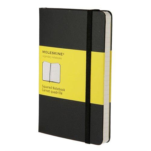 """Блокнот """"Classic Squared"""" Pocket, 96 листов, в клетку, черный"""