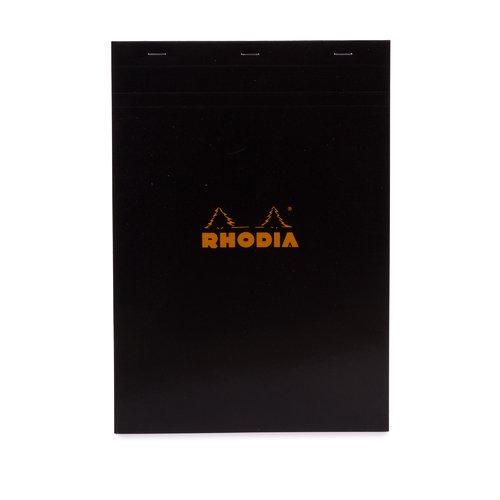 Блокнот Rhodia А4, 80 листов, в клетку, черный блокнот pierre cardin lois blanc цвет золотистый черный a5 80 листов в клетку