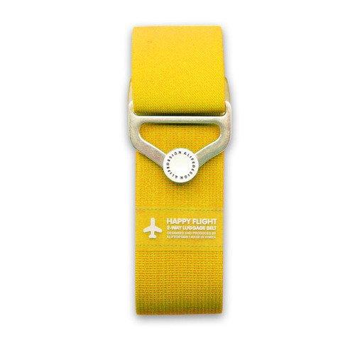"""Ремень для багажа на кнопке """"HF 2-Way Luggage Belt"""", желтый"""