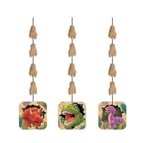 Гирлянда Dino Blast Hanging Cutouts creative hanging film style paper holder box green