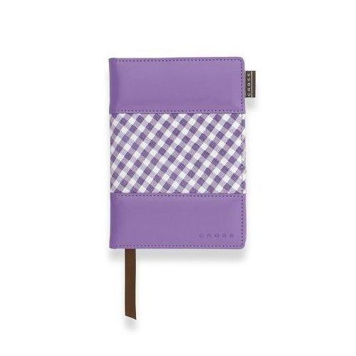 Записная книжка Gingham Journal A6, в линейку, фиолетовая записная книжка carandache office 8491 452 черный a6 192стр в линейку в компл ручка шариковая 84