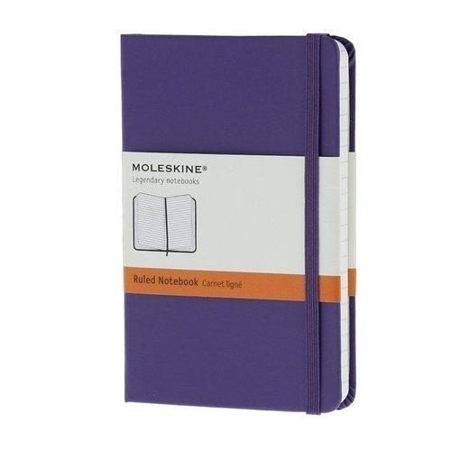Записная книжка в линейку Classic фиолетовая Pocket записная книжка mickey mouse pocket в линейку черная