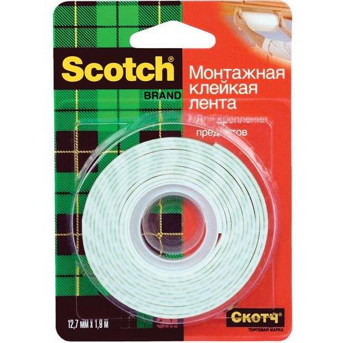 Лента двусторонняя монтажная Mounting лента клейкая двусторонняя scotch 12 мм х 10 м