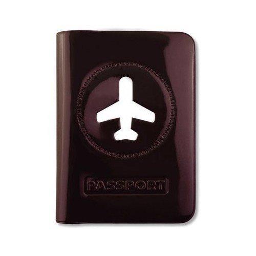 """Обложка для загранпаспорта """"Happy Flight"""", коричневая"""