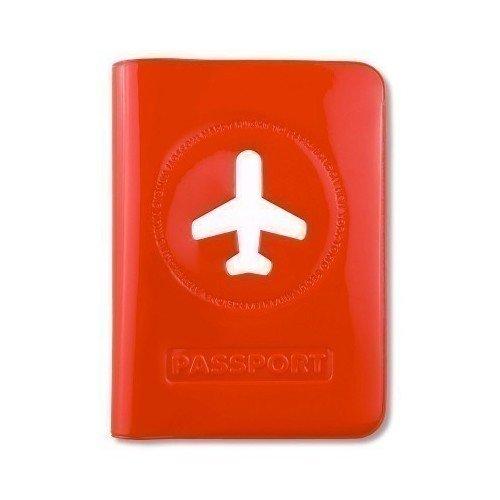 """Обложка для паспорта """"Happy Flight"""", красная"""