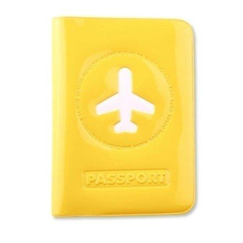 """Обложка для паспорта """"Happy Flight"""", желтая"""