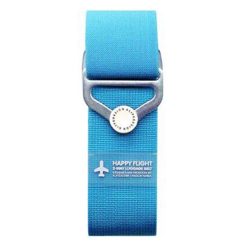 """Ремень для багажа на кнопке """"HF 2-Way Luggage Belt"""", голубой"""