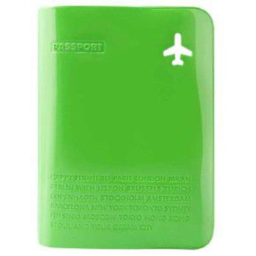 Обложка для паспорта с карманом зеленая CF-080