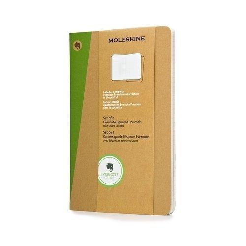 Записные книжки Evernote-2 Xlarge, 120 листов, в клетку, 2 шт. записные книжки venuse 77005 набор подарочный записная книжка брелок