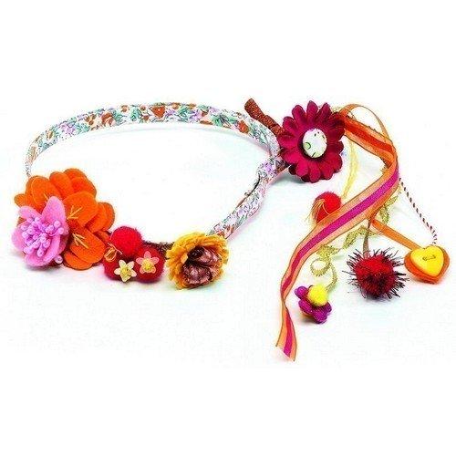 Повязка для волос Цветы невидимка для волос funny bunny розовые цветы 2 шт