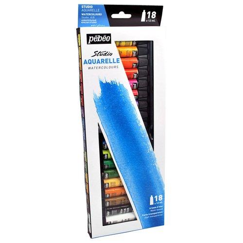 Набор акварельных красок Studio New, 18 туб акварельные карандаши colour pencils с кисточкой набор цветов в картонной коробке 24 шт