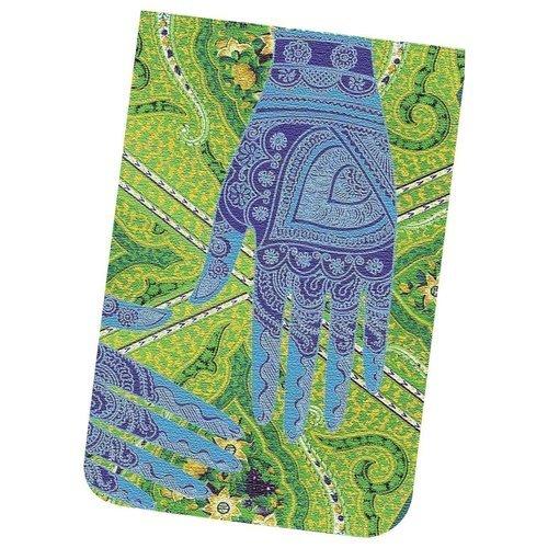 Карманный блокнот Mehndi Hand, в линейку, синий блокнот рецепты успешного уверенный синий