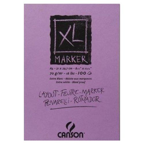 Альбом-склейка для маркеров XL А4, 70 г/м2, 21 х 29,7 см, сиреневый