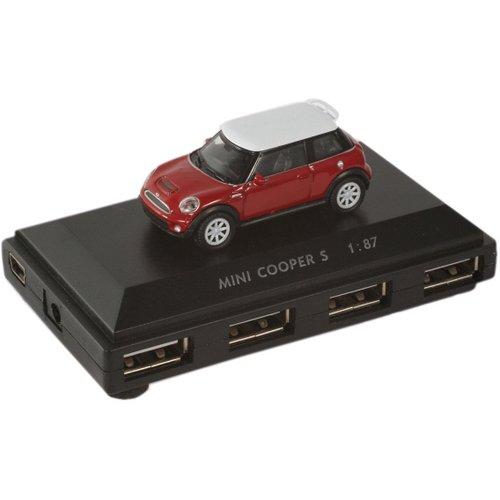 Разветвитель USB Flash Hub Mini Cooper S красный mini flash