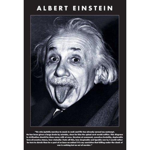 """Постер """"Albert Einstein"""" sabine werner albert einstein niveau zwei a2 cd"""