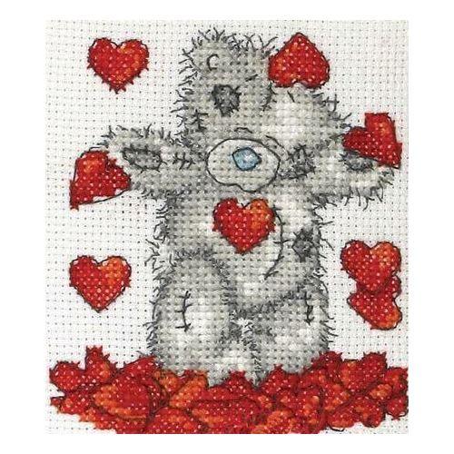 Набор для вышивания Shower Of Hearts valentine love hearts printed shower curtain