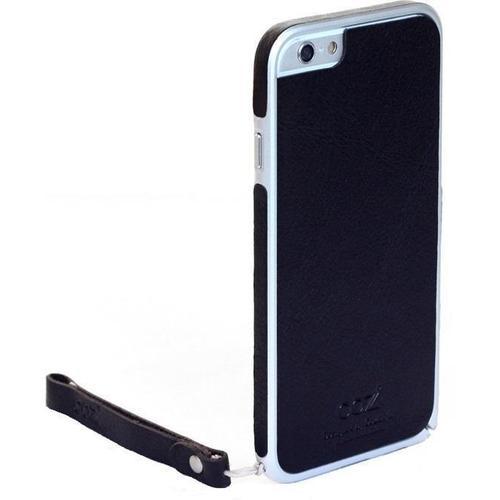 "Бампер со стикером ""Leather Skin Bumper"" для iPhone 6 черная кожа"