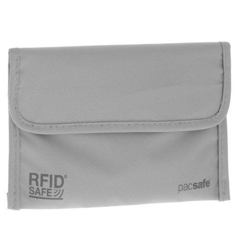 Кошелек RFIDsafe 50, серый кожаные карманы мужских мальчиков кредо удостоверения личности держатель кошелька кошелек ap американский долларовый кошелек
