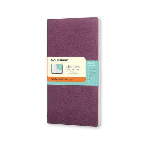 Записная книжка Chapter Slim Medium, в линейку, фиолетовая