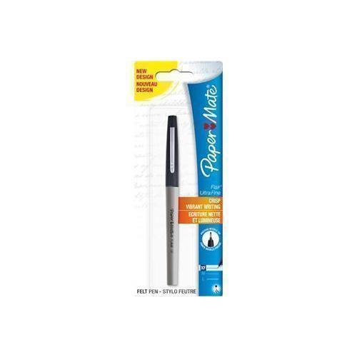 """Ручка с волоконным пишущим узлом """"Flair UF"""" черная 0,4"""