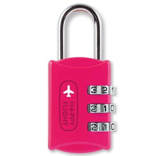 Замок для багажа розовый HF-044