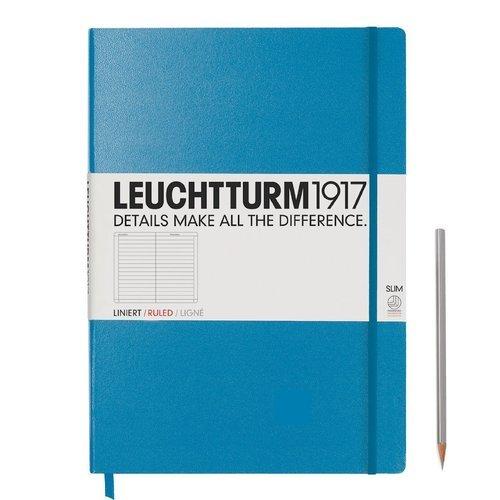 Блокнот A4+, в линейку, голубой блокнот lucie animals а4 22 листа в линейку