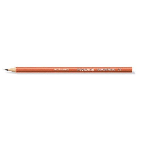 Карандаш чернографитный премиум Wopex, 2В, терракотовый карандаш 2в