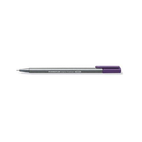 """Ручка капиллярная трехгранная """"Triplus 334"""", 0,3 мм, красно-фиолетовая цена в Москве и Питере"""