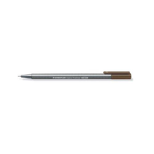 """Ручка капиллярная трехгранная """"Triplus 334"""", 0,3 мм, теплая сепия цена в Москве и Питере"""