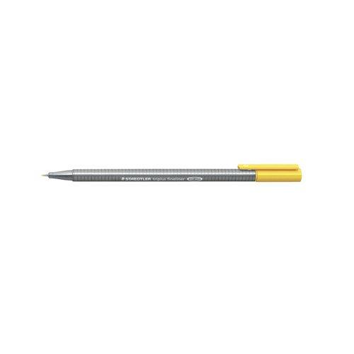 """Ручка капиллярная трехгранная """"Triplus 334"""", 0,3 мм, желтая"""