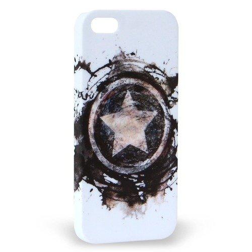 """лучшая цена Крышка задняя для iPhone 5 """"Капитан Америка 1"""""""