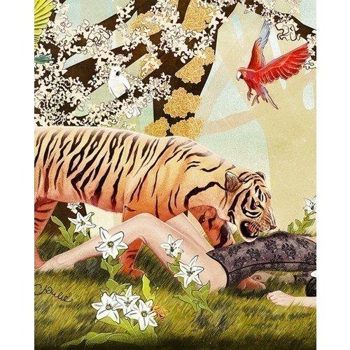 Принт Tiger А3 принт blue bird song а3