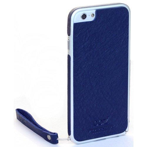 """Бампер со стикером """"Leather Skin Bumper"""" для iPhone 6 синяя кожа стоимость"""