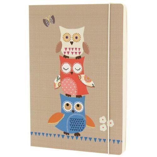 """Блокнот """"Owls"""" А5, 100 листов, в линейку, коричневый"""