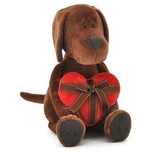 Купить Мягкая игрушка Пес Барбоська с сердцем , 25 см, Orange Toys, Мягкие игрушки
