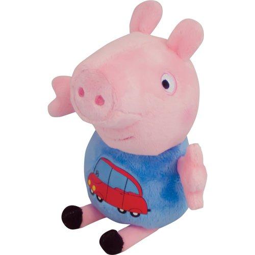 Мягкая игрушка Джордж с машинкой, 18 см