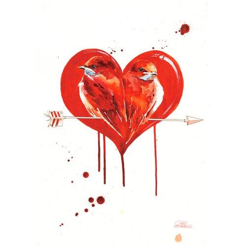 """Принт """"Love"""" А3 цены"""