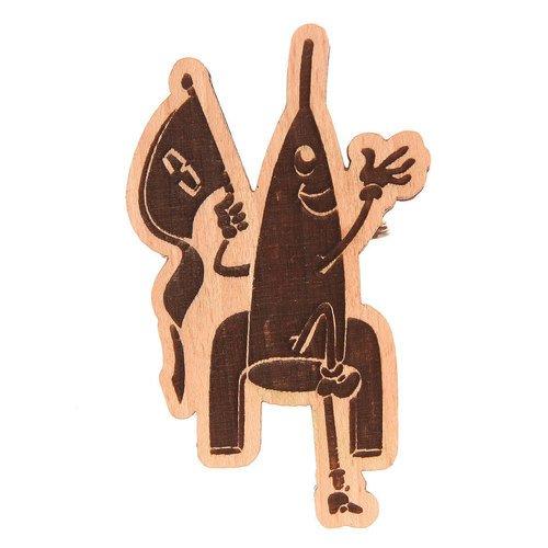 Значок Ракета сувенир ohmypeter значок деревянный цветной peter hi в блистере omp40081
