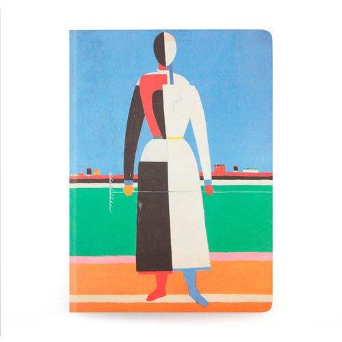 Фото - Тетрадь нелинованная Малевич К. С. Женщина с граблями А5 тетрадь малевич к с женщина с граблями а6 в точку
