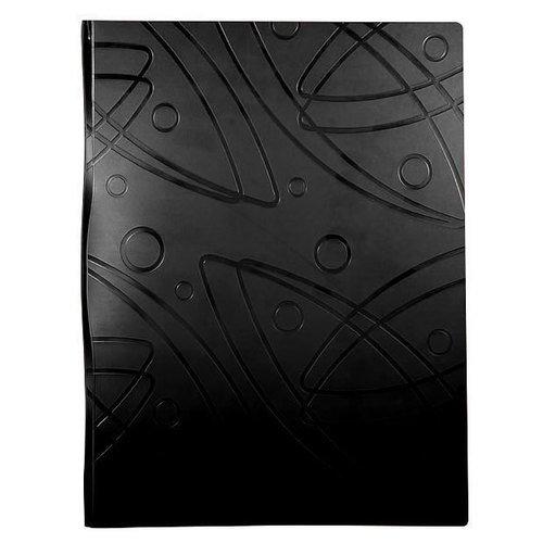 """Папка с 40 прозрачными вкладышами """"Galaxy"""" А4, черная"""