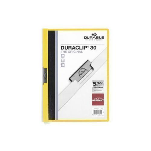 Папка Duraclip Color А4 желтая еж стайл линейка color animals желтая утка 18 5 см