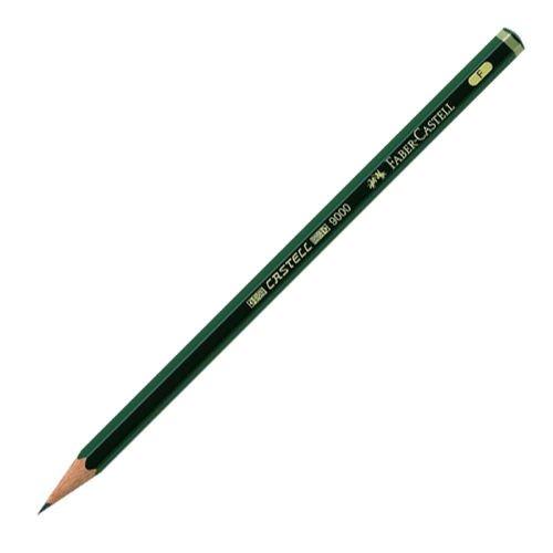 Карандаш чернографитовый, коричнево-зеленый, F