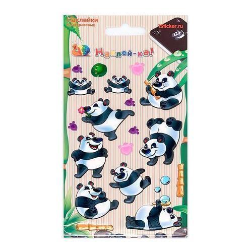Наклейка декоративная зефирная Панды 3