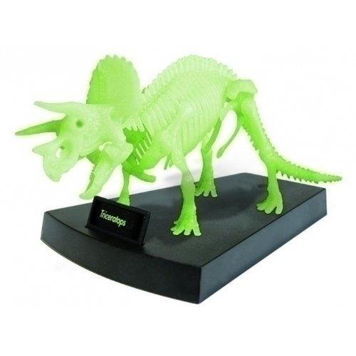Сборная модель светящаяся Скелет Трицератопса CL140K игровой набор 4m скелет трицератопса 00 03228
