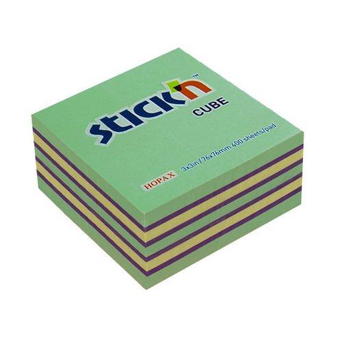 Самоклеящийся блок неон / пастель блок самоклеящийся 51х51 мм 400 листов 4 цвета 122858