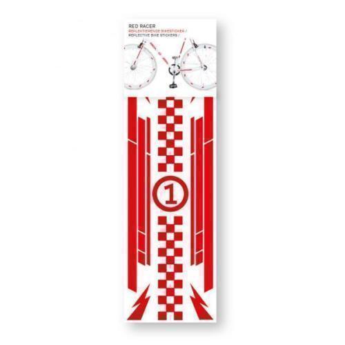 Наклейка на велосипед Red Racer, красная
